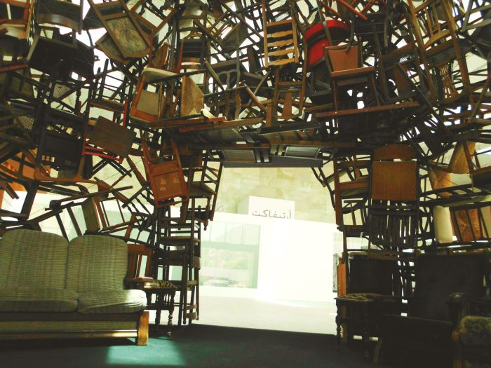 Chair sculpture at Manarat Al Saadiyat
