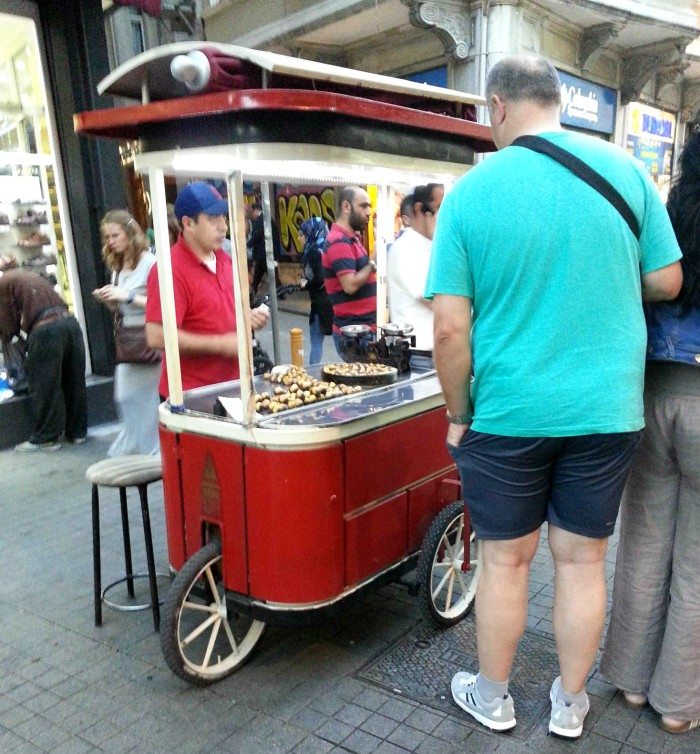 Chestnut street cart in Istanbul