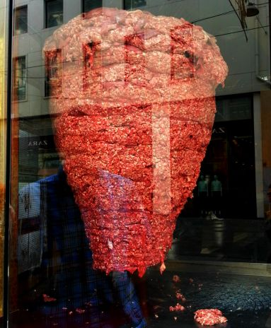 Skewered meat in Istanbul