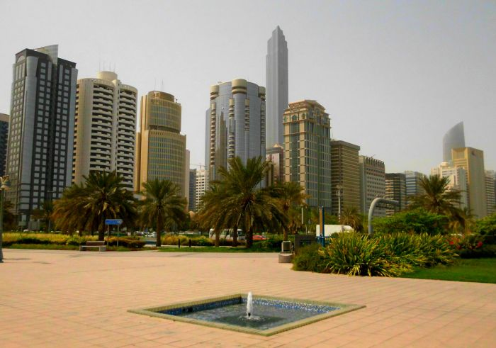 Hotel district in Abu Dhabi