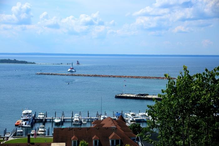 Mackinac Island view photo courtesy of Em Pitsch