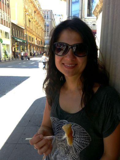 Eating bourek in Istanbul