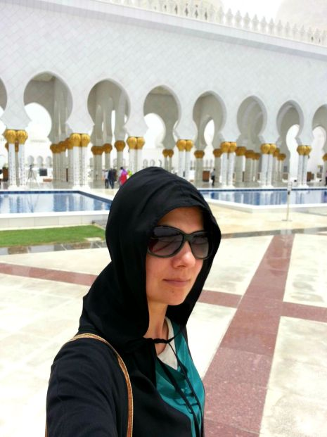 Katie at Grand Mosque