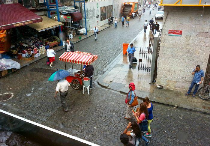 Rainy scene in Istanbul