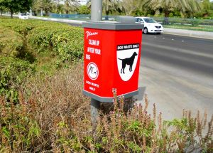 Abu Dhabi dog waste receptacle