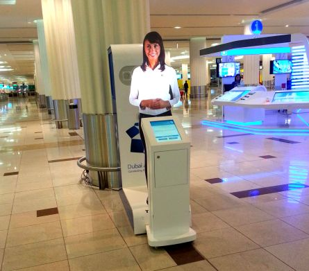Dubai airport hologram