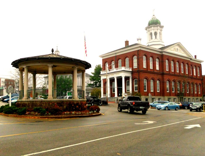 Exeter Town Hall and gazebo