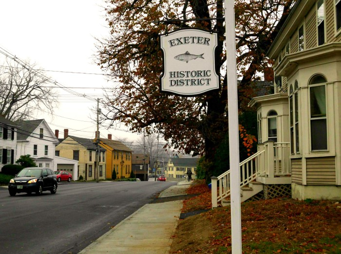 Exeter Historic District sign