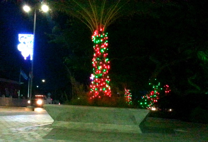 Christmas lights in Oranjestad