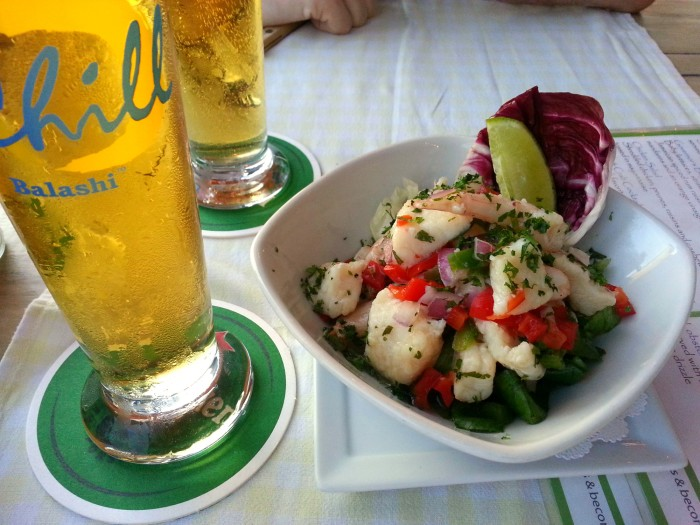 Ceviche at West Deck in Oranjestad