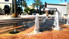 Clematis Street fountain