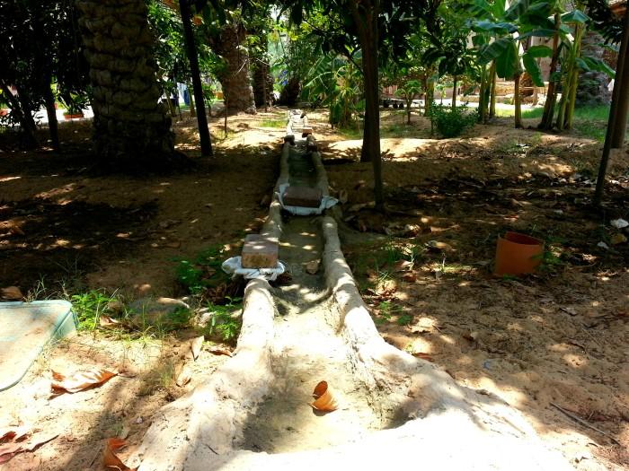 Irrigation at Heritage Village in Abu Dhabi