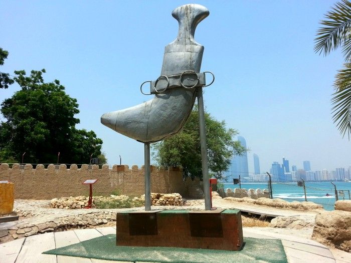 Sword statue at Heritage Village in Abu Dhabi