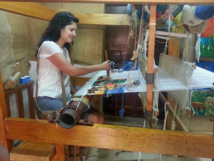 Weaving loom at Heritage Village in Abu Dhabi