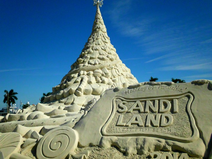 Sand castle Christmas tree