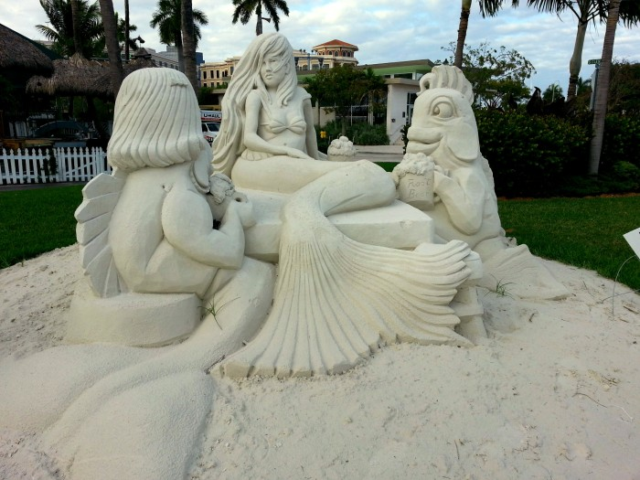 Mermaid sand sculpture