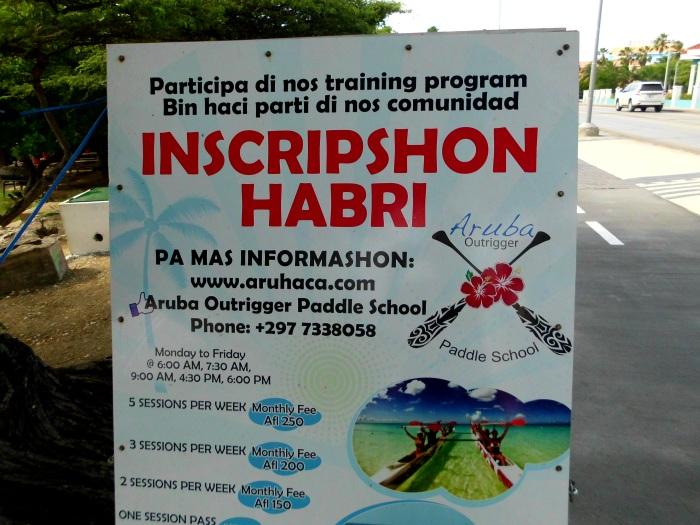 Papiamento sign in Aruba