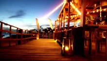 The West Deck restaurant Oranjestad Aruba beach good food