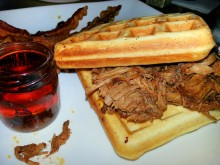 Waffles with pulled pork