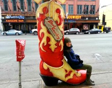 Cowboy boot in Nashville