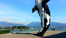 Digital orca in Vancouver