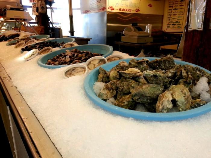 Seafood at Granville Island Public Market