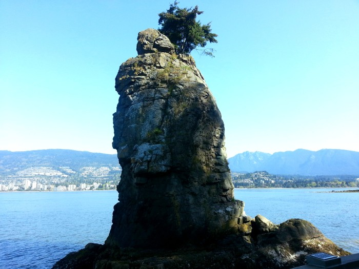 Siwash Rock in Stanley Park