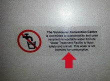 Vancouver convention center bathroom sign