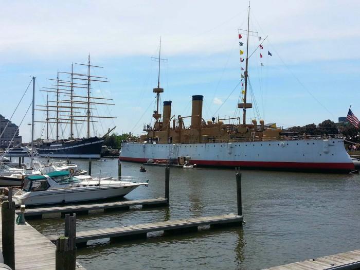 Ships in Philadelphia Seaport