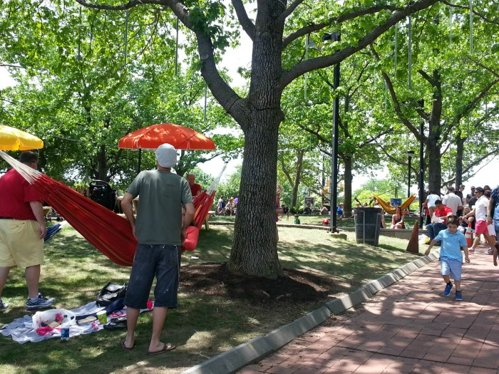 Spruce Street Harbor Park in Philadelphia