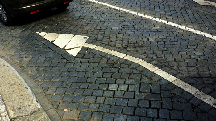 Prague cobblestone