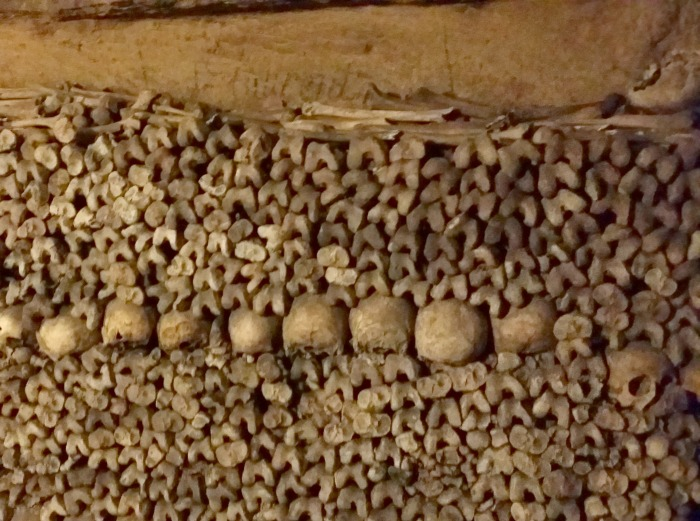 paris catacombs bones tunnels