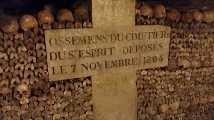 paris catacombs marker