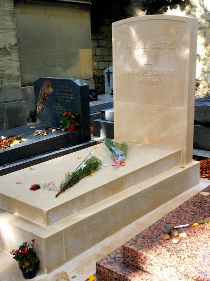 paris montparnasse cemetery sartre grave