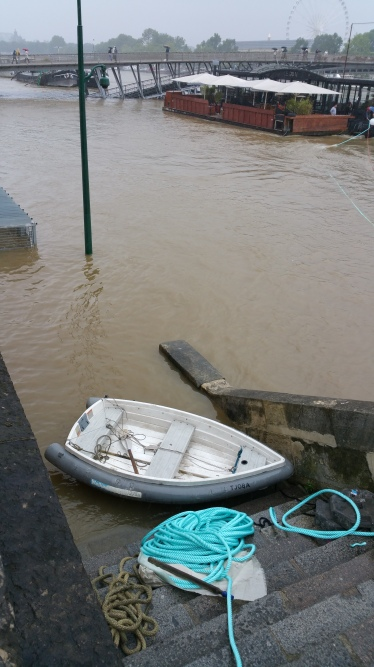Seine River, Paris, flood, flooding, boat