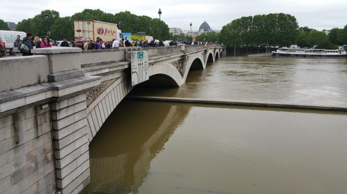 Seine River, Paris, flood, flooding, bridge