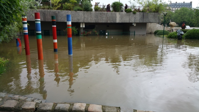 Seine River, Paris, flood, flooding, art
