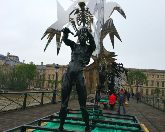 Paris art Pont des Artes